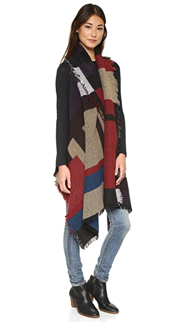 ONE by Sheri Bodell Blocked Pattern Blanket Vest