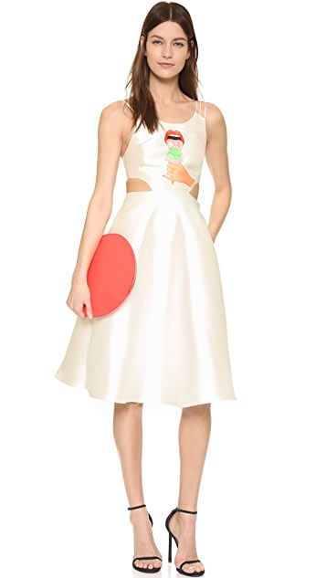ONE by Hathairat Ice Cream Print Midi Dress