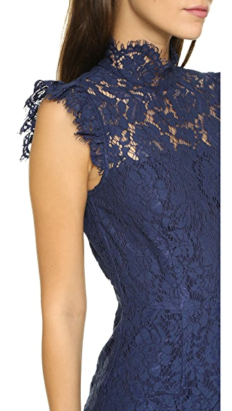 ONE BY AIJEK One By Into The Night Dress in Navy