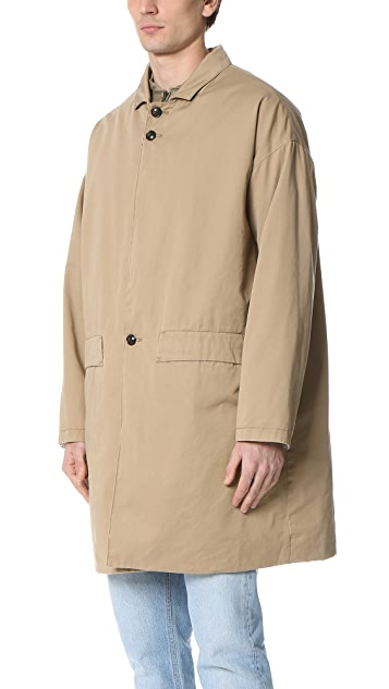 Ones Stroke Dropped Shoulder Twill Coat