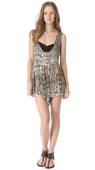 One Teaspoon Dundee Print Romper