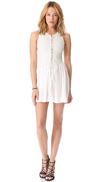 One Teaspoon Mercury Leather Mini Dress