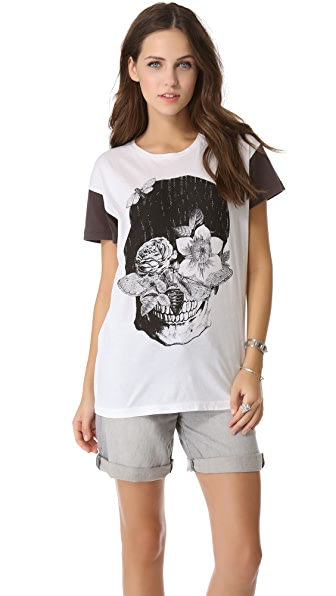 One Teaspoon Skull Flowers Gypsy Tee