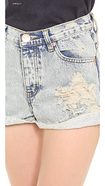 One Teaspoon Paradise Hawks Shorts