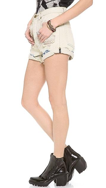 One Teaspoon Bleach Tie Dye Outlaws Shorts