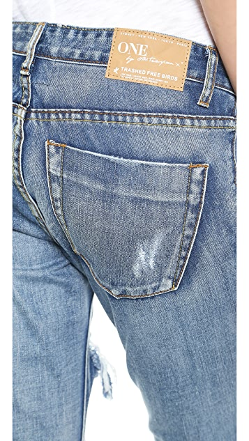 One Teaspoon Mustang Trashed Jeans