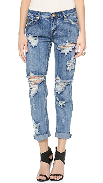 One Teaspoon Classic Awesome Boyfriend Jeans