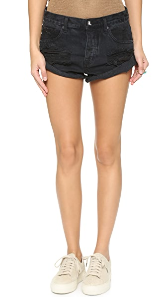 One Teaspoon Fox Black Bandits Shorts - Fox Black