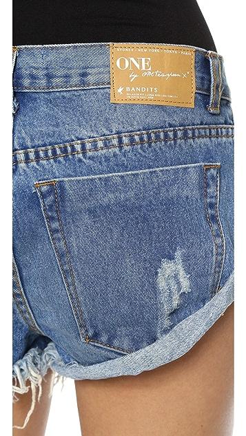 One Teaspoon Pacifica Bandits Shorts