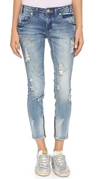One Teaspoon Blue Blonde Freebird Jeans