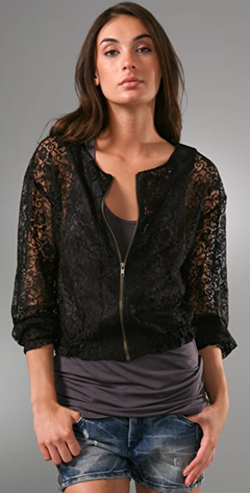 Only Hearts Lace Bomber Jacket