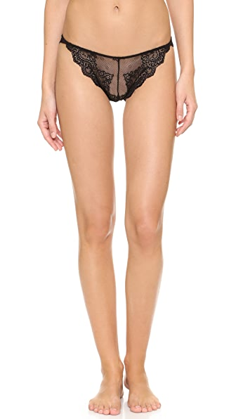 Only Hearts So Fine Lace Thong - Black