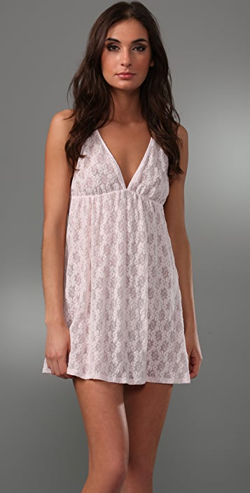 Only Hearts Lace Tie Back Chemise