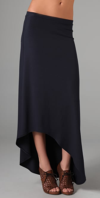 Only Hearts Swoop Hem Long Skirt