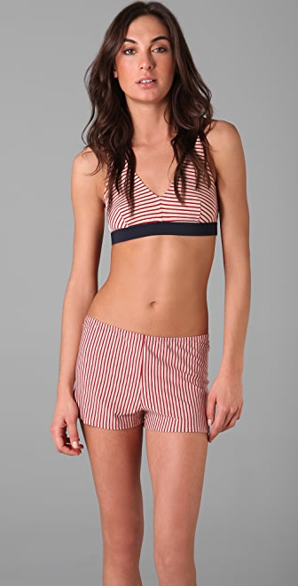 Only Hearts Red Stripe Bra