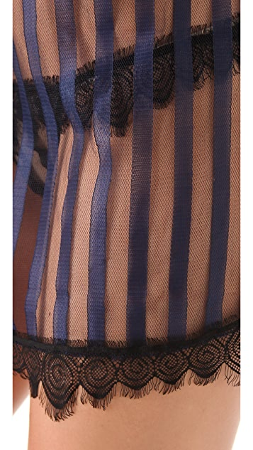 Only Hearts Satin Stripe Chemise