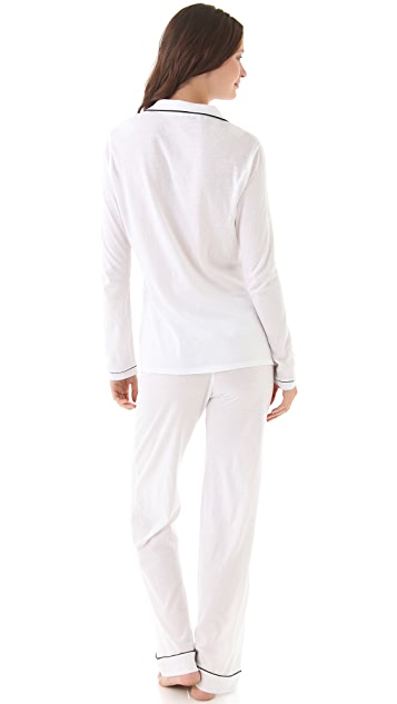 Only Hearts Piped Pajamas Set