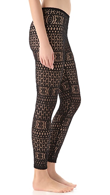 Only Hearts Geometric Lace Leggings