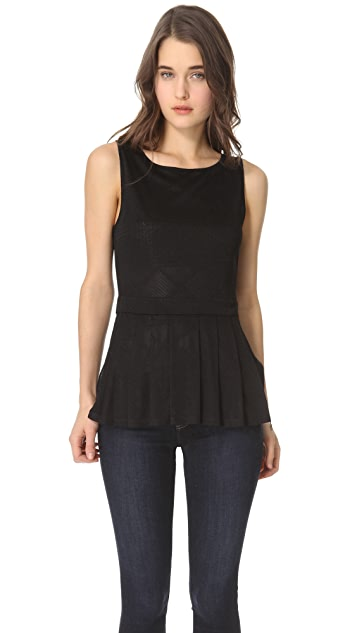 Only Hearts Ladder Back Peplum Camisole