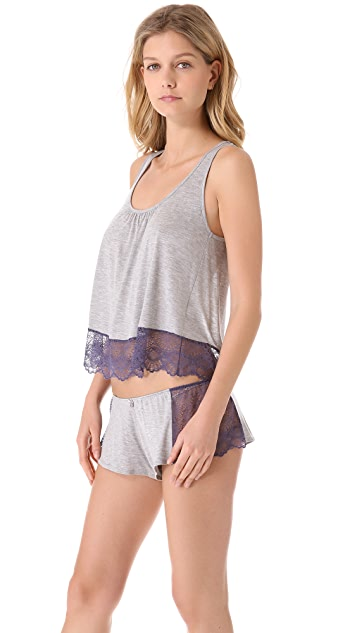 Only Hearts Venice Cropped Keyhole Tank