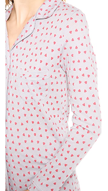 Only Hearts Heritage Heart Print Night Shirt