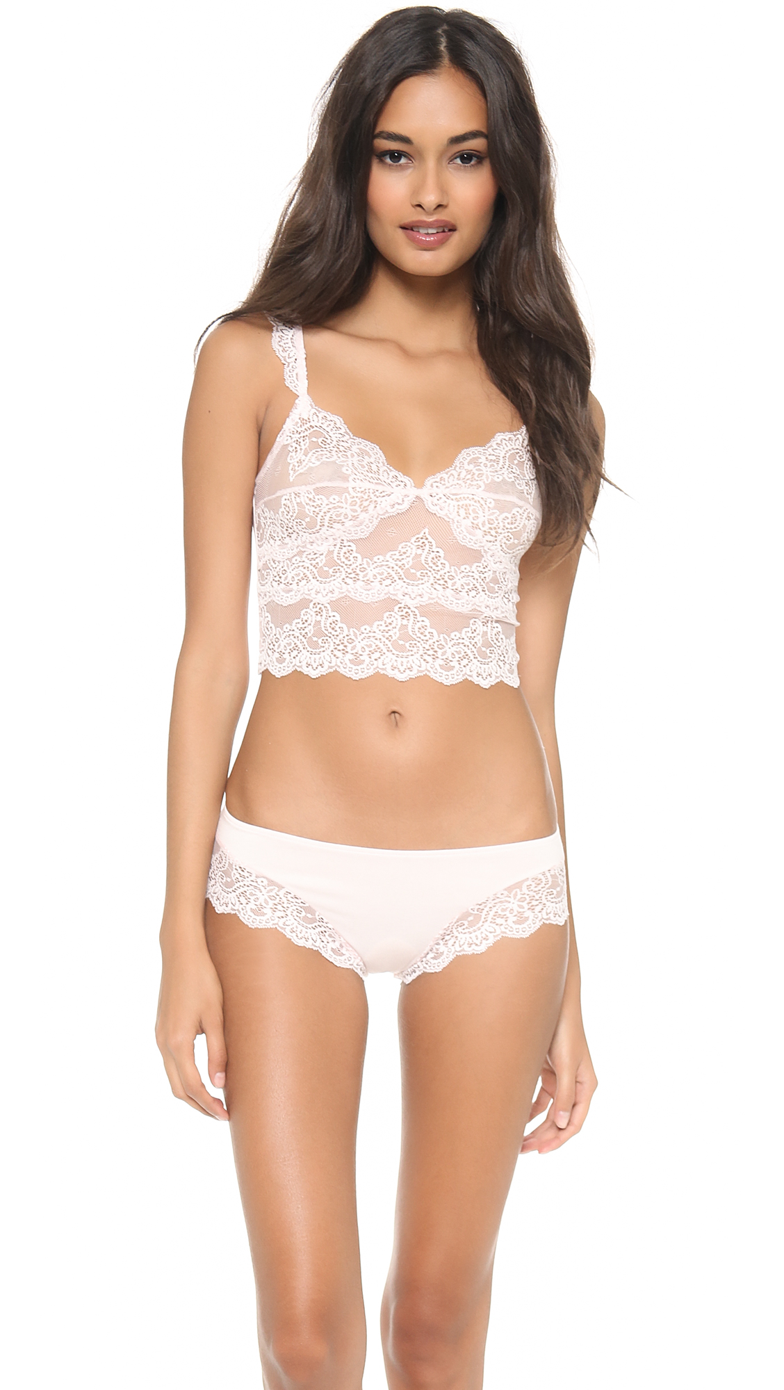 7ed058b468f0d1 Only Hearts So Fine Lace Cropped Cami