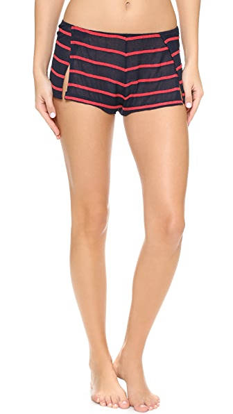 Only Hearts Seersucker Crepe Sleep Shorts