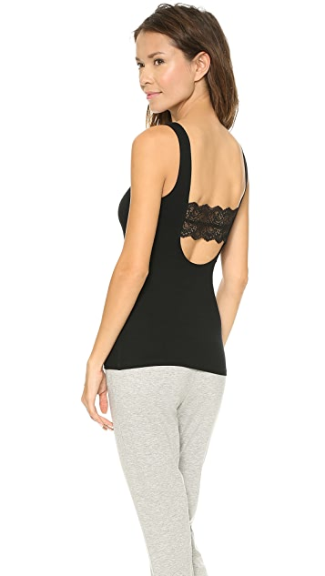 Only Hearts So Fine Tank with Lace Back