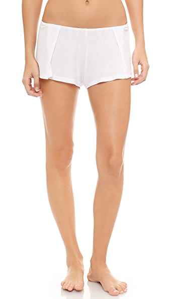 Only Hearts Ribbed Sleep Short - White