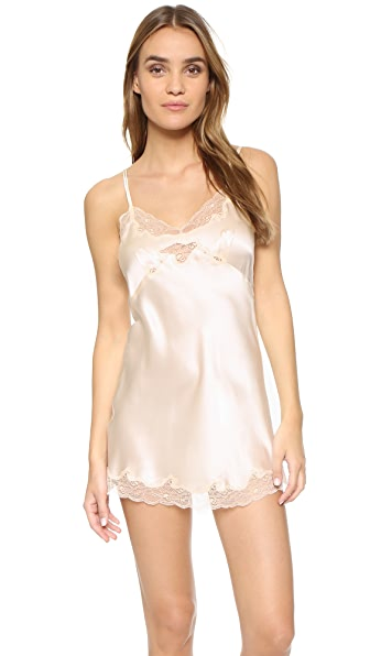 Only Hearts Silk Charmeuse Mini Slip - Vintage Ivory