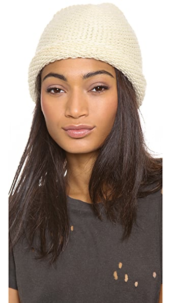 1717 Olive Mini Scalloped Standup Beanie