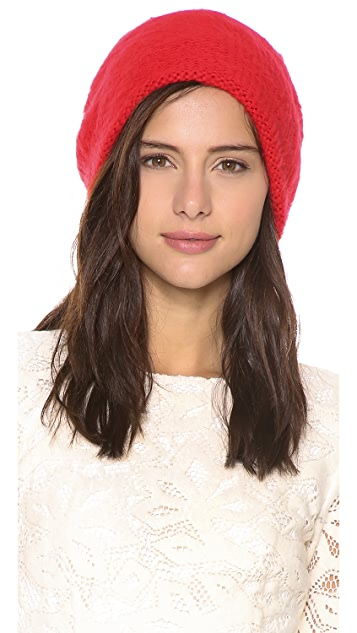 1717 Olive Standup Purl Knit Beanie