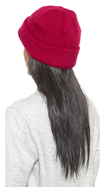 1717 Olive Brushed Cuffed Beanie