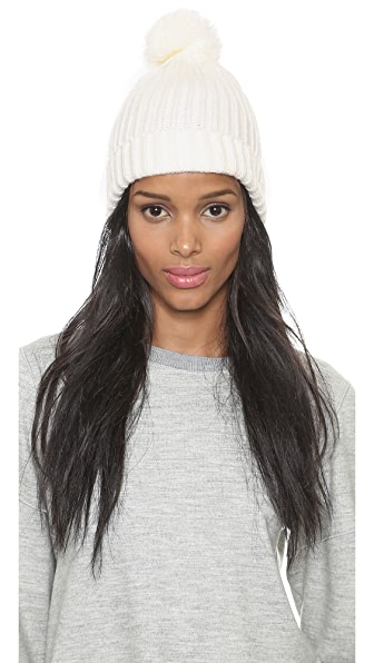 1717 Olive Cuffed Beanie with Pom Pom