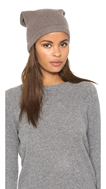 1717 Olive Purl Knit Slouch Beanie Hat