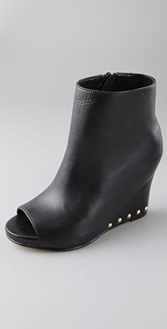 Opening Ceremony Platform Wedge Booties with Open Toe