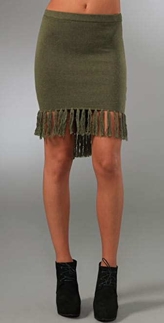 Opening Ceremony Fishtail Fringe Skirt