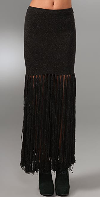 Opening Ceremony Fishtail Long Fringe Skirt