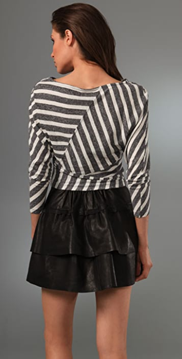 Opening Ceremony Striped Bandage Dolman Top