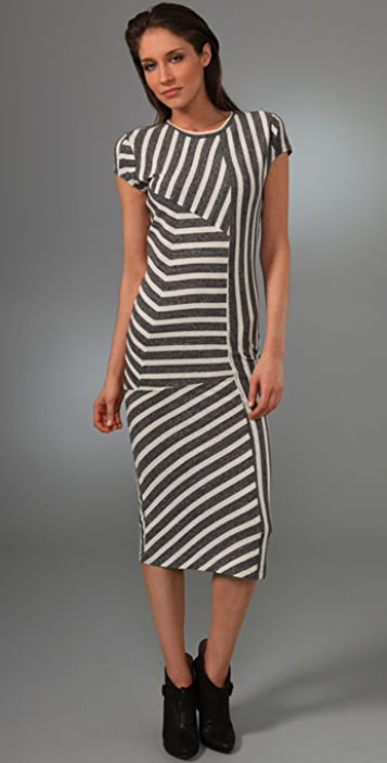 Opening Ceremony Pieced Stripe Long Dress