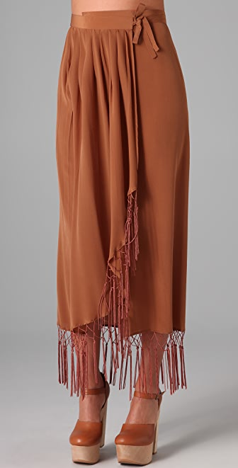 Opening Ceremony Fringe Long Skirt