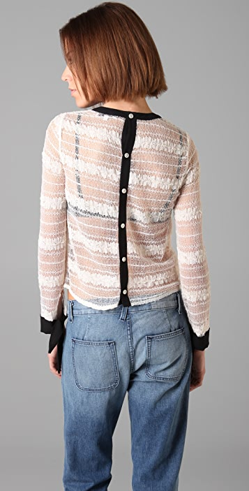 Opening Ceremony Button Back Lace Blouse