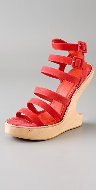 Opening Ceremony Violet Cutout Wedge Sandals