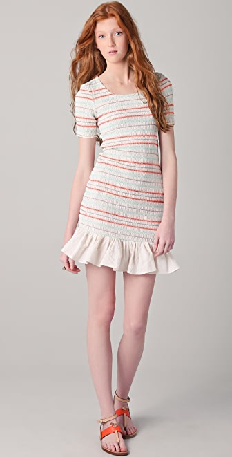 Opening Ceremony Smocked Ruffle Dress