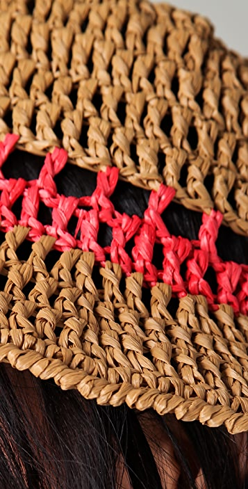 Opening Ceremony Floppy Crochet Raffia Hat