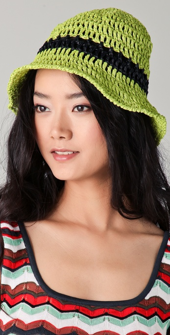 Opening Ceremony Floppy Crochet Raffia Hat