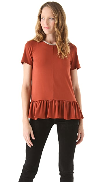 Opening Ceremony Dropped Ruffle Top