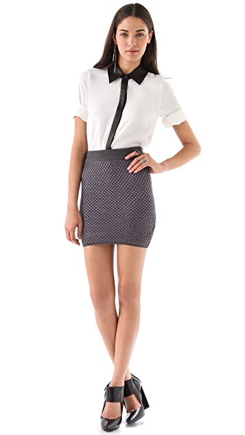 Opening Ceremony Bicolor Honeycomb Skirt