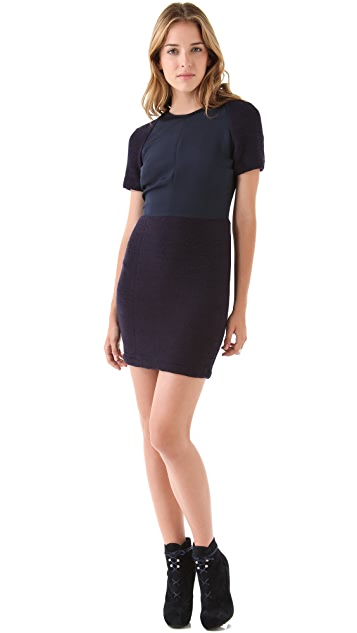Opening Ceremony Ruched Short Sleeve Dress
