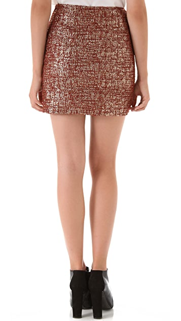 Opening Ceremony Slit Boucle Skirt